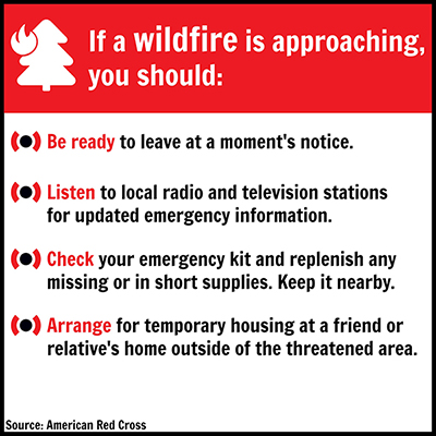 Safety tips for approaching a wildfire